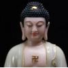 宝成佛具用品石雕翠玉镶金释迦牟尼佛像如来佛汉白玉阿弥